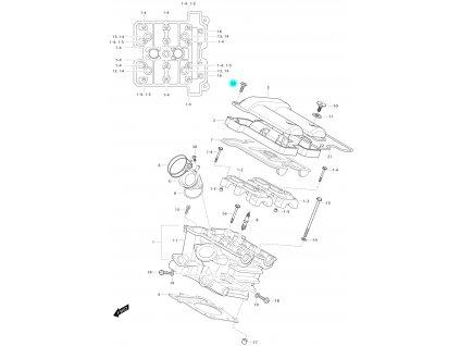 [12] Šroub (hlava zadního válce) - Hyosung GV 650 Fi & LE30