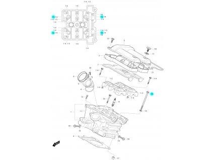 [13] Šroub (hlava zadního válce) - Hyosung GV 650 Fi & LE30