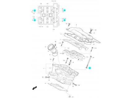 [14] Podložka (FIG01h) - Hyosung GV 650 Fi & LE30