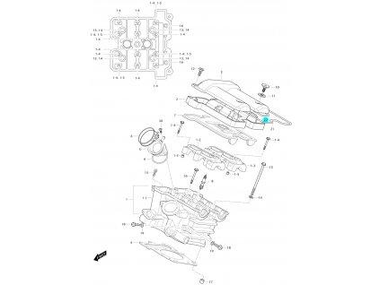 [22] Těsnící O-kroužek (hlava zadního válce) - Hyosung GV 650 Fi & LE30
