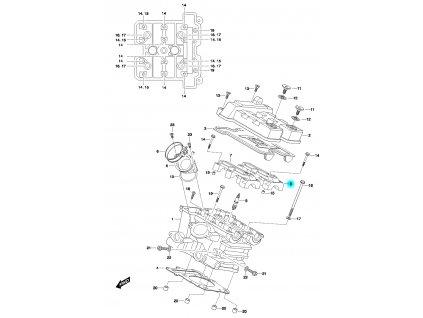 [8] Pouzdro vačkového hřídele / výstup (FIG01h) - Hyosung GT 650 N