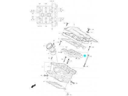 [1-3] Pouzdro vačkového hřídele / výstup (hlava zadního válce) - Hyosung GV 650i E