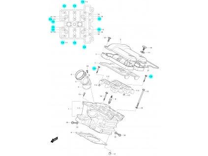 [1-4] Šroub (FIG01h) - Hyosung GV 650i E