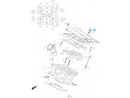 [10] Šroub (hlava zadního válce) - Hyosung GV 650i E