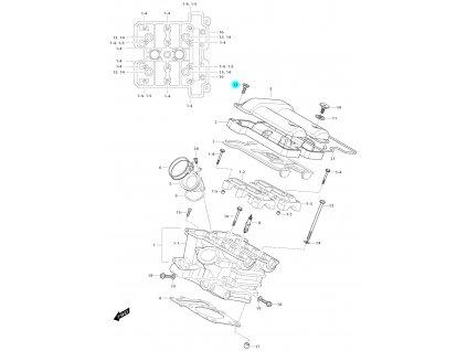 [12] Šroub (hlava zadního válce) - Hyosung GV 650i E