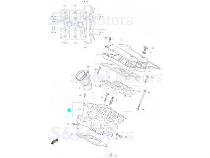[1] Hlava válce / černá (FIG01h) - Hyosung ST 700i
