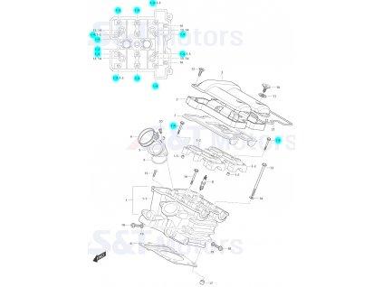 [1-4] Šroub (hlava zadního válce) - Hyosung ST 700i