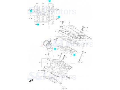 [1-5] Pouzdro (hlava zadního válce) - Hyosung ST 700i
