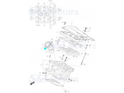 [5] Příruba sání (FIG01h) - Hyosung ST 700i