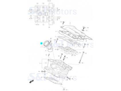 [6] Šroubová spona (FIG01h) - Hyosung ST 700i