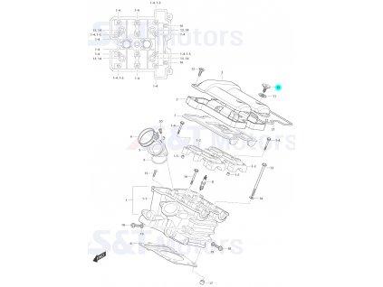 [10] Šroub (hlava zadního válce) - Hyosung ST 700i