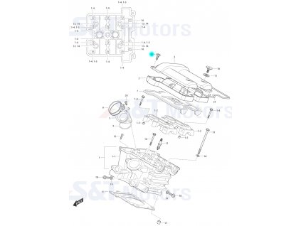 [12] Šroub (hlava zadního válce) - Hyosung ST 700i