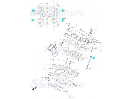 [13] Šroub (hlava zadního válce) - Hyosung ST 700i