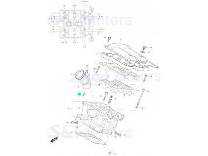 [15] Šroub (FIG01h) - Hyosung ST 700i