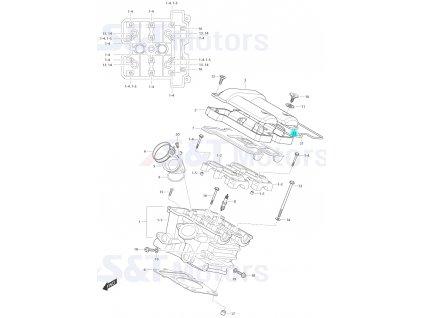 [22] Těsnící O-kroužek (hlava zadního válce) - Hyosung ST 700i