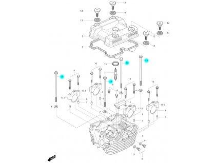 [14] Šroub (hlava zadního válce) - Hyosung GT 250i N