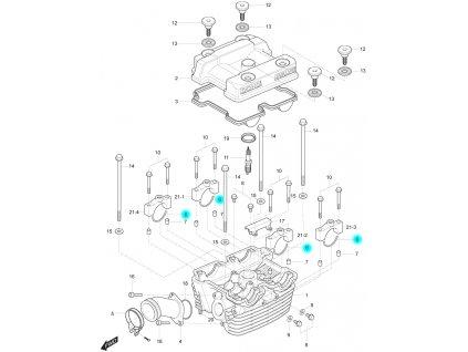 [6] C-kroužek (hlava zadního válce) - Hyosung GT 250 R