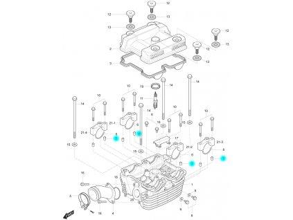 [7] Pouzdro (hlava zadního válce) - Hyosung GT 250 R