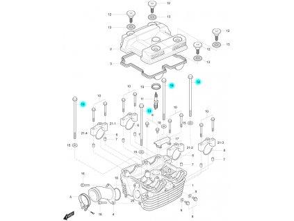 [14] Šroub (hlava zadního válce) - Hyosung GT 250 R