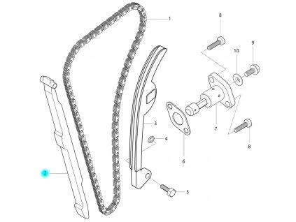[2] Vodící lišta (rozvodový řetěz) - Hyosung RT 125 D E3