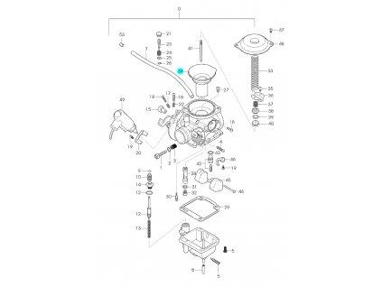 [34] Membrána (karburátor) - Hyosung GPS 125 Hyper / Grand Prix