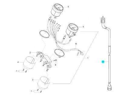[8] Náhon tachometru (tachometr) - Hyosung GF 125