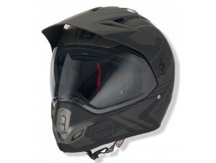 Helma SPEEDS X-STREET / sépiově-černá matná