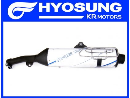 [1] Tlumič výfuku kompletní (výfuk) - Hyosung RX 125 SM E3