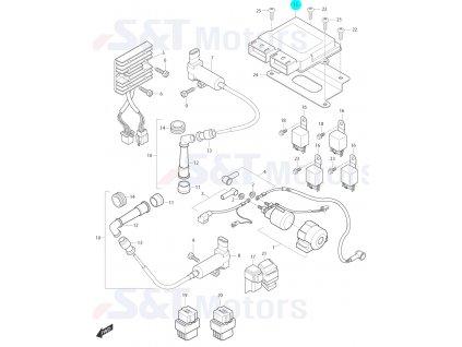 [15] Řídící jednotka ECU (elektrické jednotky) - Hyosung ST 700i