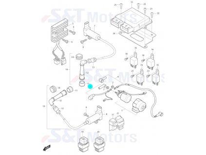[3] Elektrický kabel k baterii (elektrické jednotky) - Hyosung ST 700i