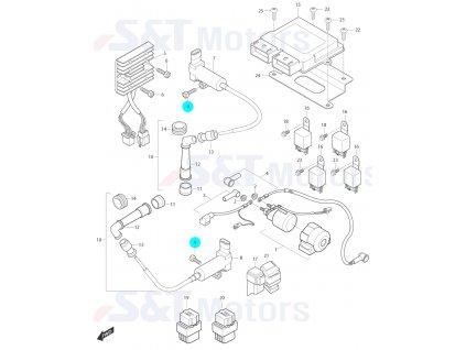 [9] Šroub (elektrické jednotky) - Hyosung ST 700i