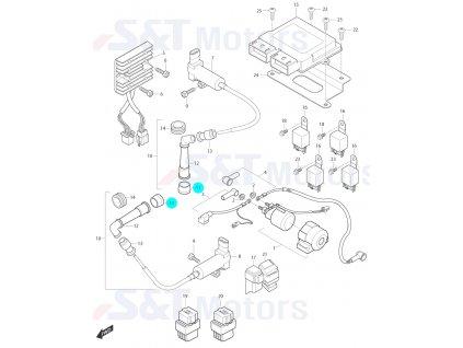 [11] Krytka gumová (FIG24) - Hyosung ST 700i