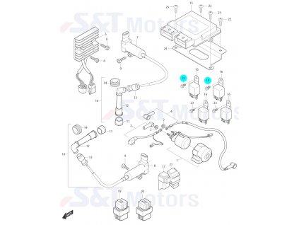 [18] Šroub (elektrické jednotky) - Hyosung ST 700i