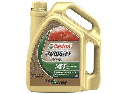 Motorový olej CASTROL POWER 1 Racing 4T 5W-40, 4 Litry