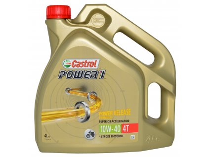 Motorový olej CASTROL POWER 1 4T 10W-40, 4 Litry