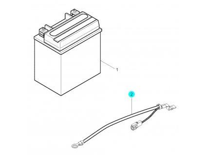 [2] Elektrický kabel (baterie) - Hyosung GT 250 N