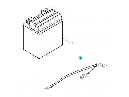 [2] Elektrický kabel (baterie) - Hyosung GT 650 N