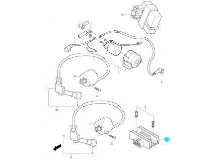 [5] Držák regulátoru / nová verze (FIG20) - Hyosung GV 125