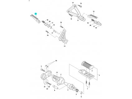 [11] Stupačka zadní pravá (řadící páka & stupačky) - Hyosung GV 650