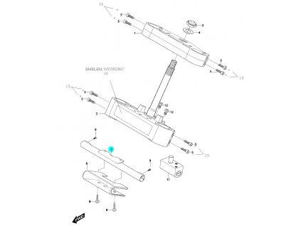[7] Držák předních blinkrů (horní brýle tyče řízení) - Hyosung GV 650