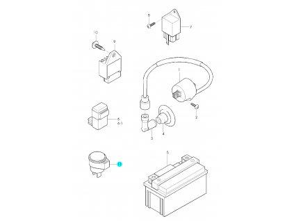 [11] Relé / blinkry 38610-36C00 (elektrické jednotky) - Hyosung SD 50 Avanti