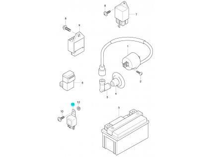 [11] Relé / blinkry (elektrické jednotky) - Hyosung SB 50 M (CAB)