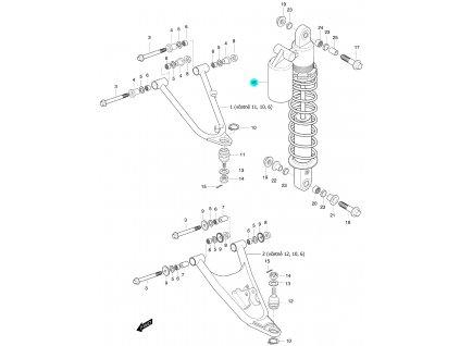 [16] Přední tlumič levý (zavěšení levé přední nápravy) - Hyosung 450 Sport