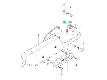 [2] Těsnění / verze bez katalizátoru (FIG07) - Hyosung SD 50 Sense