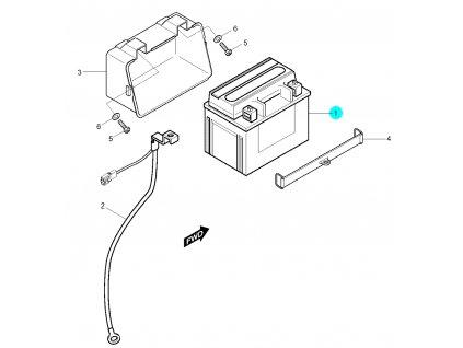 [1] Baterie (baterie) - Hyosung RX 125