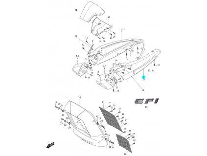 [2] Kryt levý / černý (FIG36) - Hyosung GV 650i P