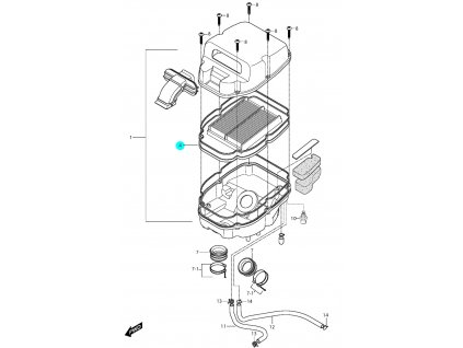 [4] Filtr (vzduchový filtr) - Hyosung GT 650i R K (GT 650 RC)