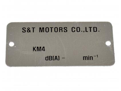 [neni na obr.] Výrobní štítek pro vyražení VIN (FIG26) - GT 125 N