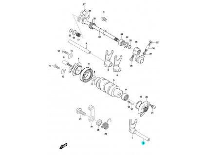 [4] Hřídel (systém převodového řazení) - Hyosung GT 650 N