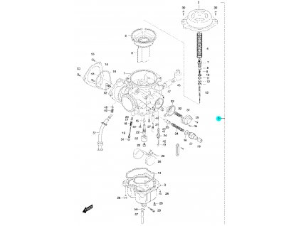 [0] Karburátor kompletní (FIG12) - Hyosung 450 Sport